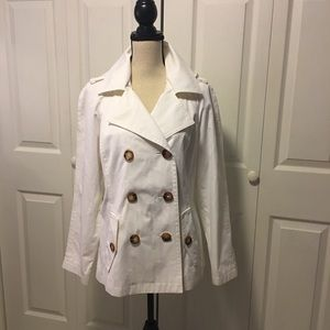 Michael Kors off white trench/peacoat style jacket